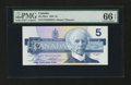 Canadian Currency: , BC-56cA $5 1986. ...