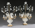 Decorative Arts, Continental:Lamps & Lighting, A PAIR OF ROCK CRYSTAL AND GILT BRONZE FOUR LIGHT LAMPS. 27 x 19 x19 inches (68.6 x 48.3 x 48.3 cm) each. ... (Total: 2 Items)