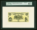 Canadian Currency: , Toronto, ON- The Bank of Toronto $5 Jan. 2, 1935 Ch. # 715-24-02PFace Proof. ...
