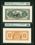Canadian Currency: , Bridgetown, Barbados- The Canadian Bank of Commerce $5 Jan. 2, 1922Ch. # 75-20-02P Face and Back Proofs. ... (Total: 2 notes)