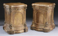 Furniture : Continental, A PAIR OF ITALIAN GILT WOOD PEDESTALS. 32 x 23 x 23 inches (81.3 x58.4 x 58.4 cm) each. ... (Total: 2 Items)