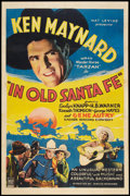 "Movie Posters:Western, In Old Santa Fe (Mascot, 1934). One Sheet (27"" X 41""). Western.. ..."