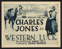 """Western Luck (Fox, 1924). Title Lobby Cards (2) (11"""" X 14""""). Western. ... (Total: 2 Items)"""