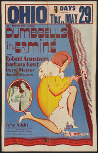 "Dumb-Bells in Ermine (Warner Brothers, 1930). Window Card (14"" X 22""). Comedy"
