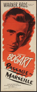 "Movie Posters:War, Passage to Marseille (Warner Brothers, 1944). Insert (14"" X 36"").War.. ..."