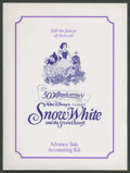 "Movie Posters:Animated, Snow White and the Seven Dwarfs (Buena Vista, R-1987). 50th Anniversary Ticket Sales Kit (9"" X 12"", Multiple Items). Animate..."