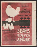 """Movie Posters:Rock and Roll, Woodstock (Warner Brothers, 1970). Herald (12"""" X 15"""", MultiplePages). Rock and Roll.. ..."""