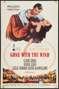 "Gone with the Wind (MGM, R-1961). One Sheet (27"" X 41""). Academy Award Winners"