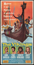 "Movie Posters:Action, The Vikings (United Artists, 1958). Three Sheet (41"" X 81"").Action.. ..."