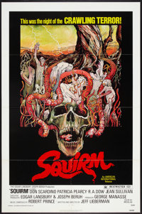 """Squirm (American International, 1976). One Sheet (27"""" X 41"""") and Lobby Cards (7) (11"""" X 14""""). Horror..."""