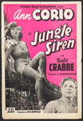 "Movie Posters:Adventure, Jungle Siren (PRC, 1942). Pressbook (12"" X 18"", Multiple Pages).Adventure.. ..."
