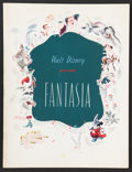 "Movie Posters:Animated, Fantasia (RKO, 1940). Program (Multiple Pages) (9.75"" X 12.75"").Animated.. ..."