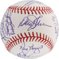 Autographs:Baseballs, 1986 New York Mets Reunion Team Signed Baseball. ...