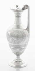 Silver Holloware, British:Holloware, A VICTORIAN SILVER AND SILVER GILT WINE JUG. John, Edward, Walter& John Barnard, London, England, 1871-1872. Marks: (lion p...(Total: 2 Items)