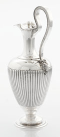 Silver & Vertu:Hollowware, A VICTORIAN SILVER WINE JUG. Stephen Smith, London, England, 1870-1871. Marks: (lion passant), (leopard's head), (duty mark)...