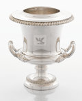 Silver Holloware, British:Holloware, A GEORGE III SILVER PLATED WINE COOLER. Maker unknown, probablySheffield, England, circa 1820. Unmarked. 11 x 9-3/4 x 9 inc...