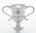 Silver Holloware, British:Holloware, A GEORGE III SILVER TWO-HANDLED CUP. John Langlands I, Newcastle,England, 1776-1777. Marks: (lion passant), (leopard's head...