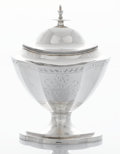 Silver Holloware, American:Creamers and Sugars, AN AMERICAN SILVER SUGAR BOAT. Issac Hutton, Albany, New York,circa 1795. Marks: HUTTON. 8 x 6 x 4-5/8 inches (20.3 x 1...(Total: 2 Items)