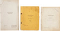 Movie/TV Memorabilia:Documents, Two Years Before the Mast Scripts....