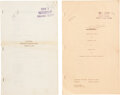 Movie/TV Memorabilia:Documents, Carole Lombard Scripts - No One Man and Sinners in the Sun. ...