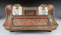 Decorative Arts, French:Other , A FRENCH NAPOLEON III BOULLE INLAID INKSTAND. Third Quarter 19thCentury. 13-1/8 inches (33.3 cm) long. ...