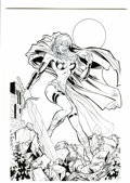 Original Comic Art:Splash Pages, Ron Adrian Red Monika Specialty Illustration Original Art(1998)....