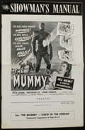 Movie Posters:Horror, The Mummy Lot (Universal International, 1959). Pressbooks (3) and Ad Supplement (Various, Sizes, Multiple Pages). Horror.. ... (Total: 4 Items)