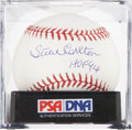 Autographs:Baseballs, Steve Carlton Single Signed Baseball PSA Mint+ 9.5....