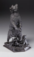 Fine Art - Sculpture, European:Antique (Pre 1900), After NIKOLAÏ IVANOVICH LIBERICH (Russian, 1828-1883). StandingBear. Bronze with patina. 22-1/2 inches (57.2 cm) high. ...
