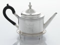Silver Holloware, American:Tea Pots, AN AMERICAN SILVER TEA POT AND TRAY. George Alexander & HenryRiker, New York, New York, circa 1790. Marks: A & Riker, A&... (Total: 2 Items)