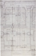 Movie/TV Memorabilia:Documents, The Godfather II Hand-Drawn Set Blueprint for Tahoe Scene....