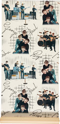Music Memorabilia:Memorabilia, The Beatles Vintage Wallpaper Panel....