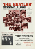 Music Memorabilia:Posters, The Beatles Second Album Promotional Display (Capitol, 1964)....