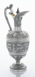 Silver Holloware, British:Holloware, A VICTORIAN SILVER AND SILVER GILT WINE JUG. John Hunt & RobertRoskell, London, England, 1869-1870. Marks: (lion passant), ...
