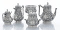 Silver & Vertu:Hollowware, AN AMERICAN SILVER FIVE-PIECE TEA AND COFFEE SERVICE. William Gale, New York, New York, circa 1860. Marks: TIFFANY & CO., ... (Total: 5 Items)