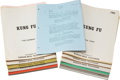 Movie/TV Memorabilia:Documents, Kung Fu Television Script Collection.... (Total: 35 )