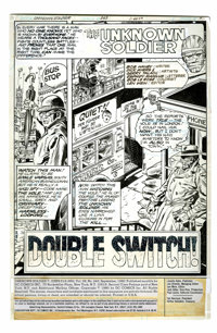Dick Ayers and Gerry Talaoc Unknown Soldier #243 page 1 Original Art (DC,1980)