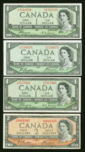 Canadian Currency: , Devil's Face Notes.. ... (Total: 4 notes)
