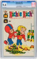 Bronze Age (1970-1979):Humor, Richie Rich #100 File Copy (Harvey, 1970) CGC NM 9.4 Off-white towhite pages....