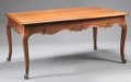 Furniture : French, A FRENCH PROVINCIAL MAHOGANY TABLE. 19th Century. 29-5/8 x 62 x 39inches (75.2 x 157.5 x 99.1 cm). ...
