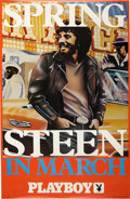 Music Memorabilia:Posters, Bruce Springsteen in Playboy Promo Poster (Playboy,1976)....