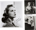 Movie/TV Memorabilia:Autographs and Signed Items, Alfred Hitchcock and Janet Leigh Signed Psycho Photos....(Total: 2 )