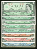 Canadian Currency: , $13 Face Canadian.. ... (Total: 8 notes)