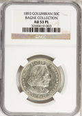 1893 50C Columbian AU53 Prooflike NGC. Ex:Bagne Collection. NGC Census: (1/199). PCGS Population (0/0). Mintage: 1,550,4...