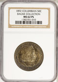 1892 50C Columbian MS62 Prooflike NGC. Ex:Bagne Collection. NGC Census: (46/305). PCGS Population (0/0). Mintage: 950,00...