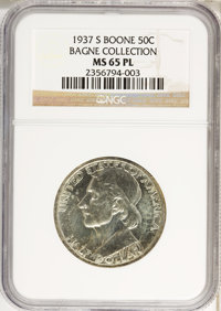 1937-S 50C Boone MS65 Prooflike NGC. Ex:Bagne Collection. NGC Census: (0/0). PCGS Population (0/0). Mintage: 2,506. (#89...