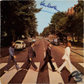 Music Memorabilia:Autographs and Signed Items, Beatles Related - Paul McCartney Signed Abbey Road Cover....