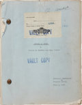 Movie/TV Memorabilia:Documents, Dinner at Eight Original MGM Vault Copy Script. ...