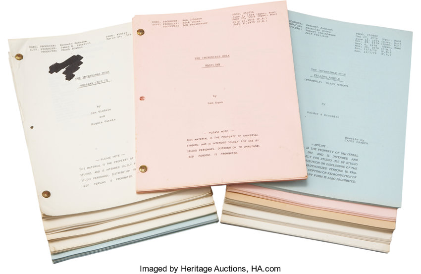 The Incredible Hulk Television Script Collection     (Total: 175