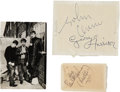 Music Memorabilia:Autographs and Signed Items, Beatles Signed Items.... (Total: 3 )